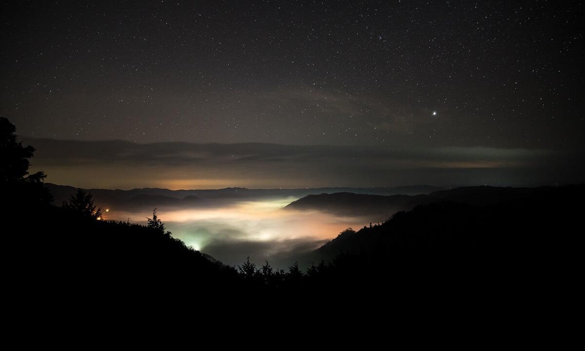 備中松山城展望台からの雲海の写真