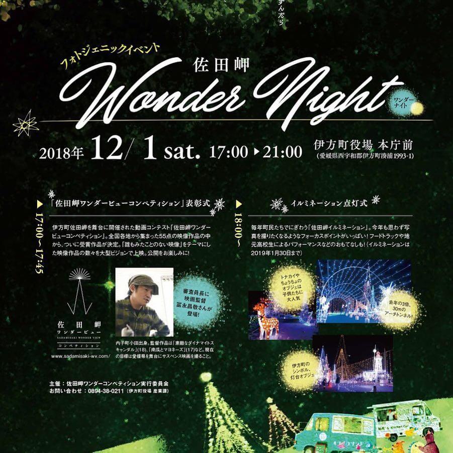 「佐田岬 Wonder Night」のチラシ