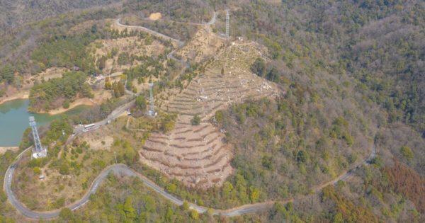 岡山県矢掛町「マツタロウの森」のドローン空撮写真